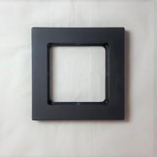 Рамка Jung 1-ая (одинарная), материал алюминий, цвет Черный