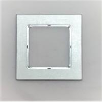 Рамка Jung 1-ая (одинарная), материал алюминий, цвет Хром
