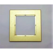 Рамка Jung 1-ая (одинарная), материал алюминий, цвет Золото