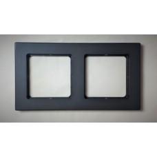 Рамка Jung 2-ая (двойная), материал алюминий, цвет Черный