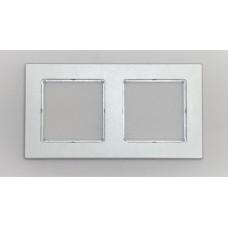 Рамка Jung 2-ая (двойная), материал алюминий, цвет Хром