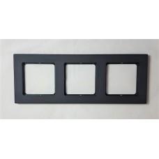 Рамка Jung 3-ая (тройная), материал алюминий, цвет Черный