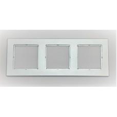 Рамка Jung 3-ая (тройная), материал алюминий, цвет Хром