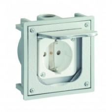 1471460 ABL SURSUM Лючок напольный с розеткой IP41 серый 94,5*94,5 мм