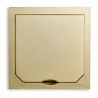 1471AUM ABL SURSUM Крышка лючка BOWA на 1 розетку IP41 94*94 мм. Цвет: золото.