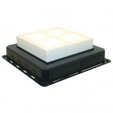 83058 Efapel  Коробка под заливку для люка на 8 модулей 45 х 45 мм